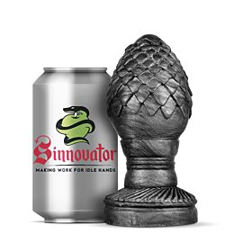Sinnovator Drogon Dragon Egg Platinum Silicone Butt Plug 5.5 Inches