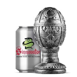 Sinnovator Imperial Egg Platinum Silicone Butt Plug 6 Inches