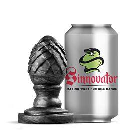 Sinnovator Saphira Dragon Egg Platinum Silicone Butt Plug 3.5 Inches
